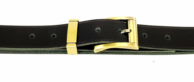 32mm - Square buckle and keeper -Brushed Brass - 3899