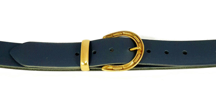 38mm - Horseshoe solid brass buckle with keeper -Brass - 3292