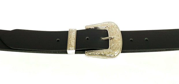 38mm - Embossed, Trapezoid buckle and keeper - 38 mm - Nickel - 2860