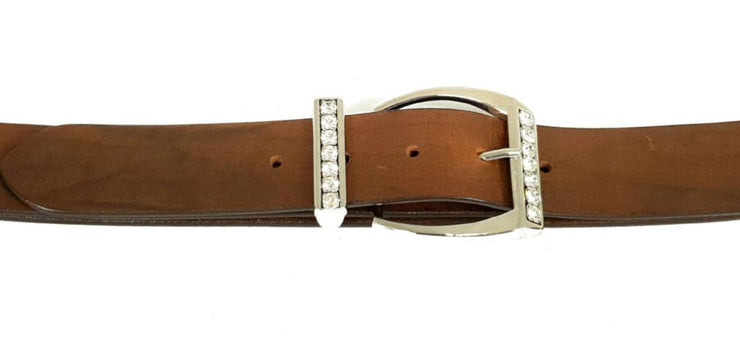 38mm - Square buckle and keeper with crystals - Nickel - 2368