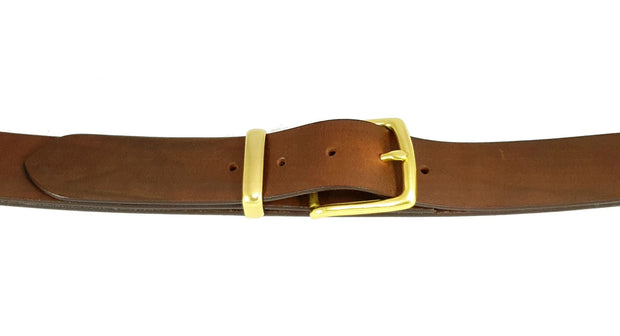 38mm - West End buckle and keeper - Solid Brass - 2532