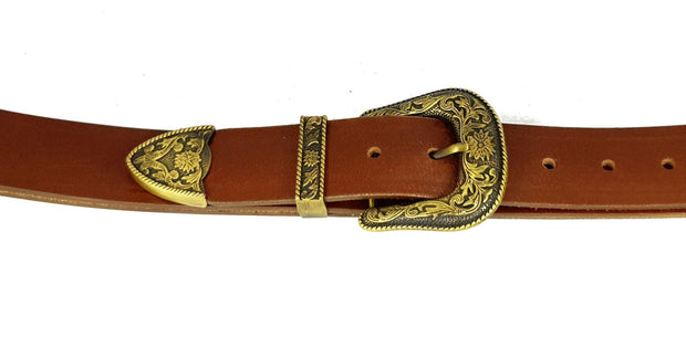 38mm - 3 Piece Buckle - Antique Brass - 3565