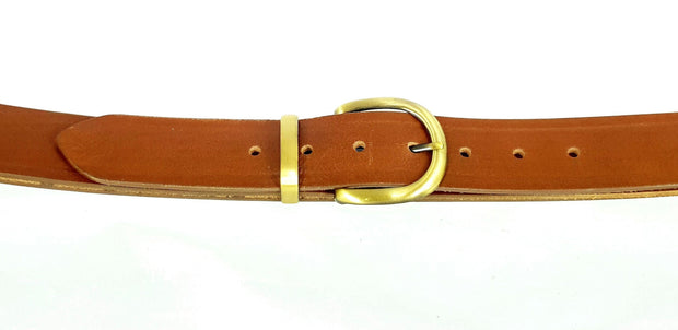 38 mm - 'D'buckle with keeper  - Antique Brass - 2193