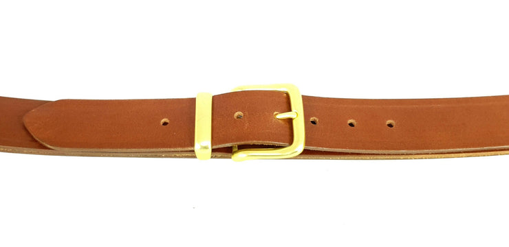 38mm - Square buckle and keeper - Brass - 2505