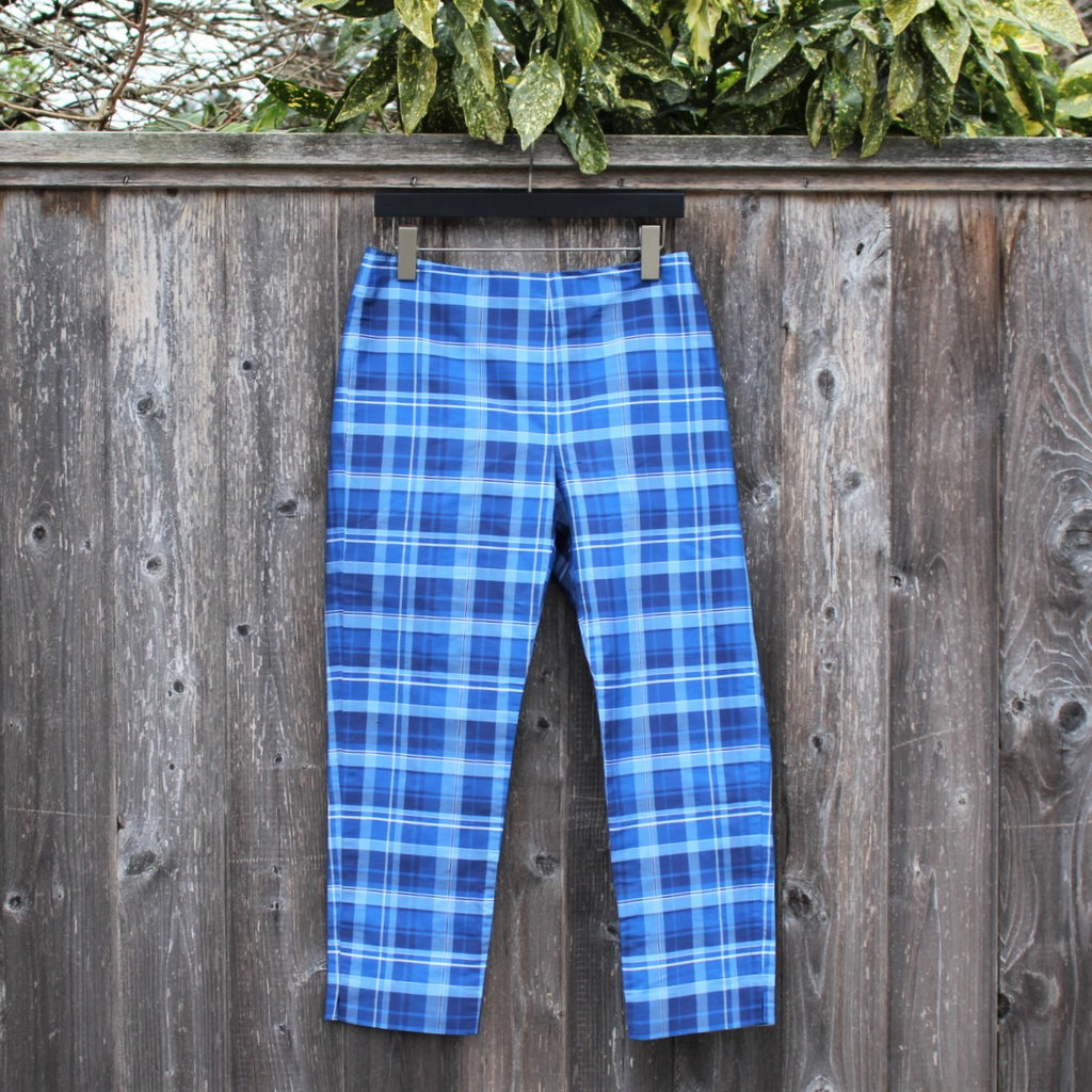 Vintage 90s Ralph Lauren Plaid Silk Pants