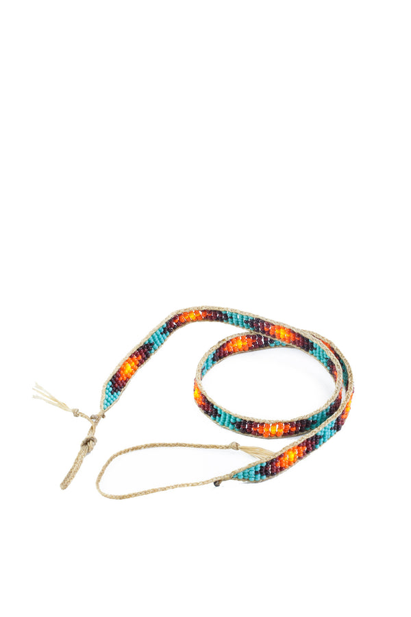 Glass Bead Hatband VI