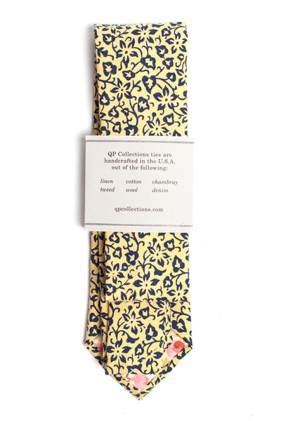 Navy and Yellow Ditsy Floral