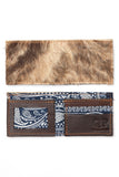 Men's Wallet - Cowhide Blue Bandana