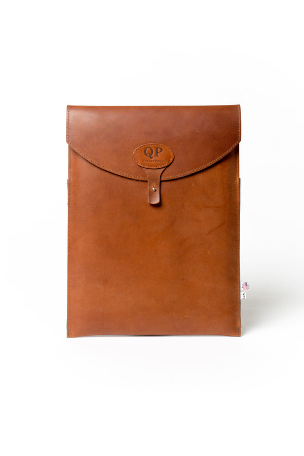 "13"" Laptop Case - Tan and Green - Monogram"