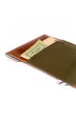 "15"" Laptop Case - Tan and Green - Monogram"