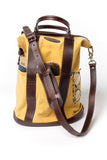 Helmet Bag - Small - Brown and Yellow