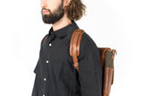 Handmade Leather and Canvas Messenger/Backpack