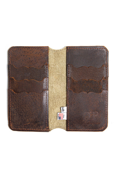 Tall Fold Wallet - Brindle Hair