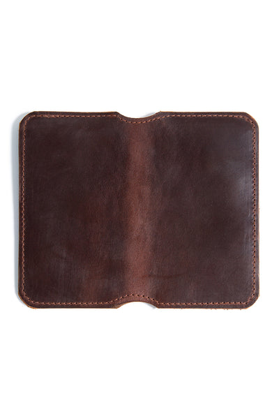 Tall Fold Wallet - Brown