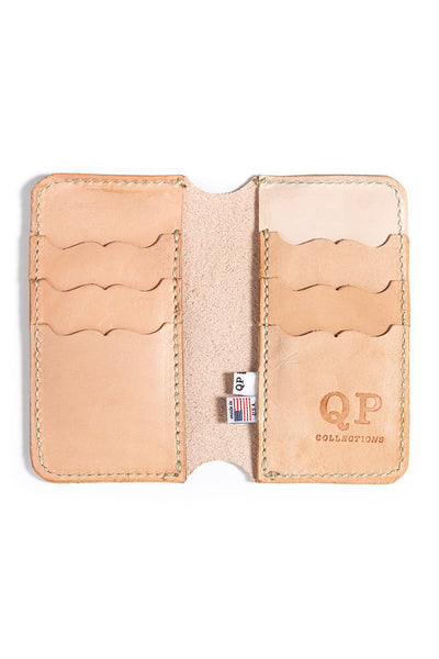 Tall Fold Wallet - Veg Tan