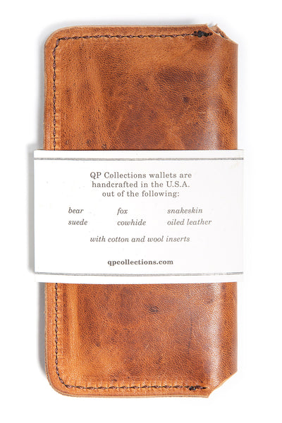 Tall Fold Wallet - Walnut