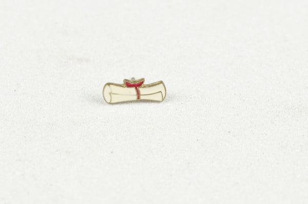 Vintage Enamel Pin - Scroll