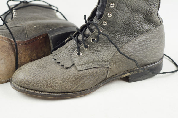 Grey Bison Justin Boots