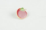 Vintage Enamel Apple pin