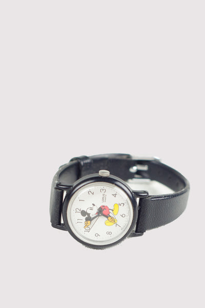 Vintage Mickey Mouse Watch with Black Numbers