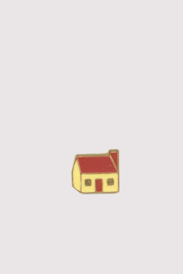 Vintage Enamel Pin - House