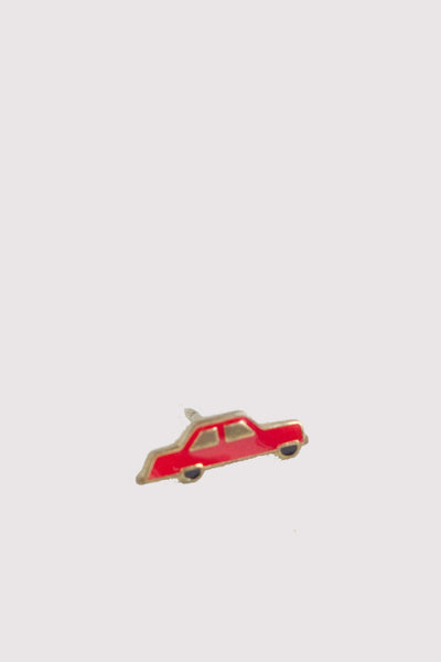 Vintage Enamel Pin - Car