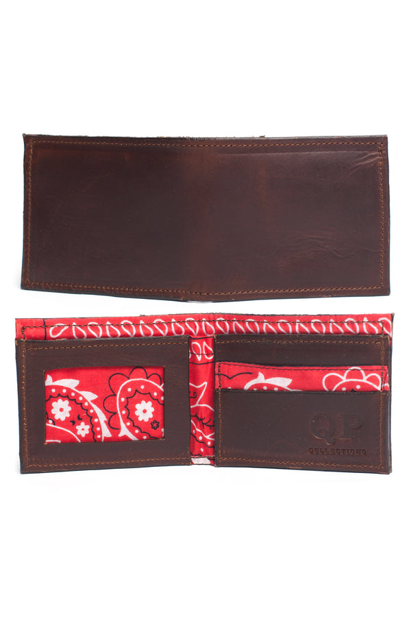 Men's Wallet - Brown Bandana