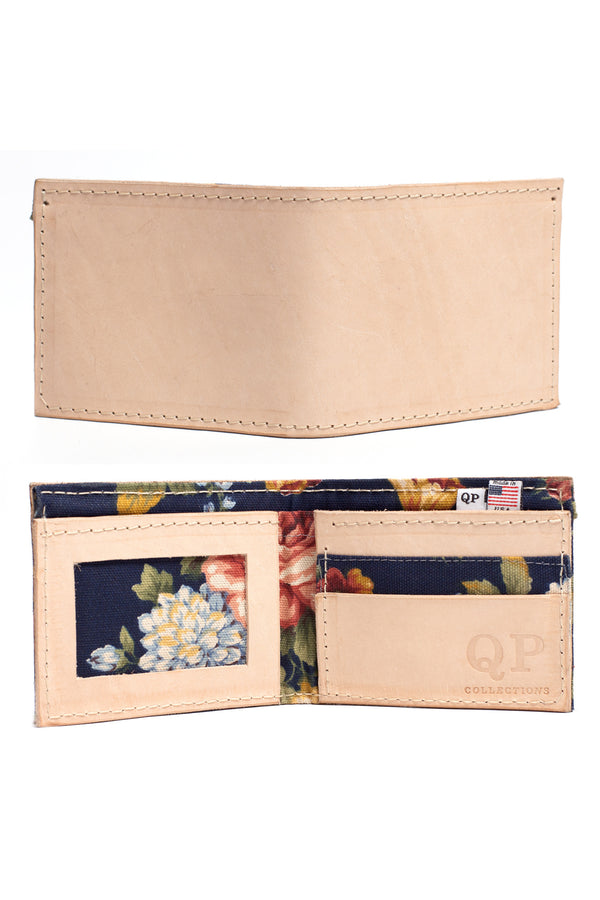 Men's Wallet - Tan Floral