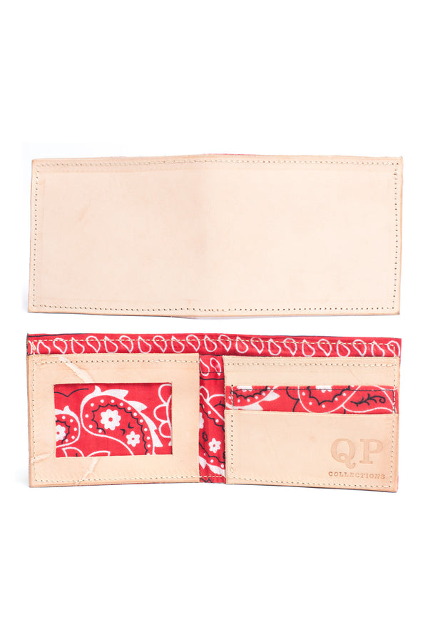 Men's Wallet - Tan Bandana