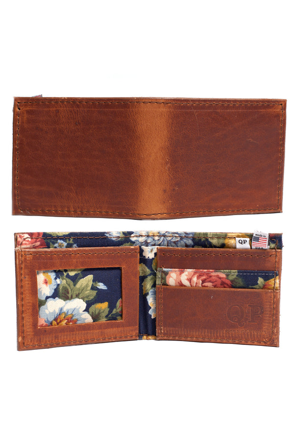 Men's Wallet - Walnut Floral