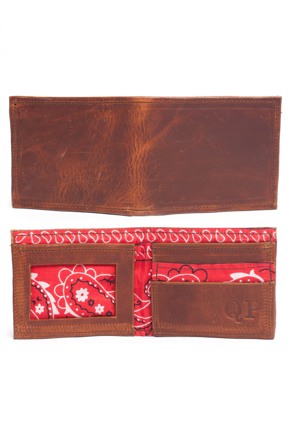 Men's Wallet - Walnut Bandanna
