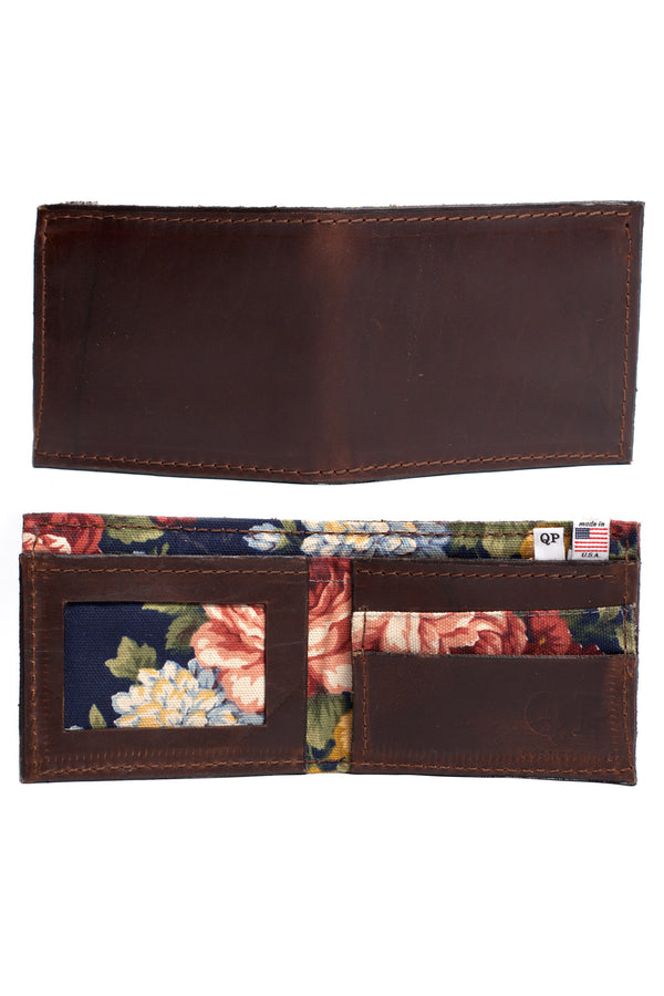 Men's Wallet - Brown Floral