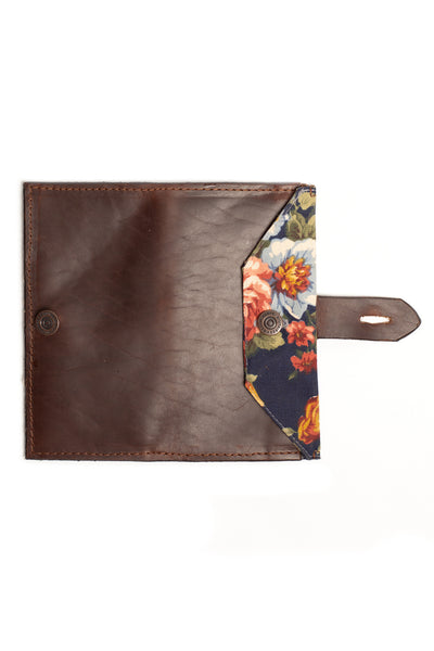 Women's Wallet - Brown, Floral