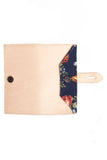 Women's Wallet - Natural, Blue Floral