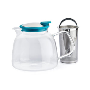 Tetera Bell Glass 1.250 ml Turquesa