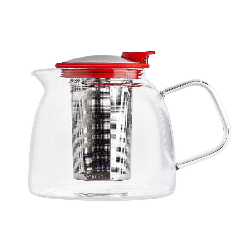 Tetera Bell Glass 1.250 ml Roja