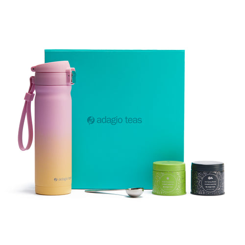 Travel Mug Degrade Caja Turquesa