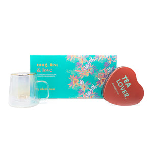 Pack Mug, Tea & Love Rojo