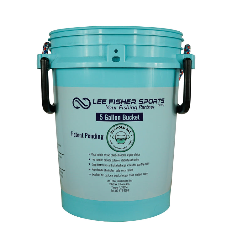 BUCKET PAL- 5 GALLON BUCKET (NO LID)-PRINTED LEE FISHER SPORTS LOGO - Lee Fisher Sports