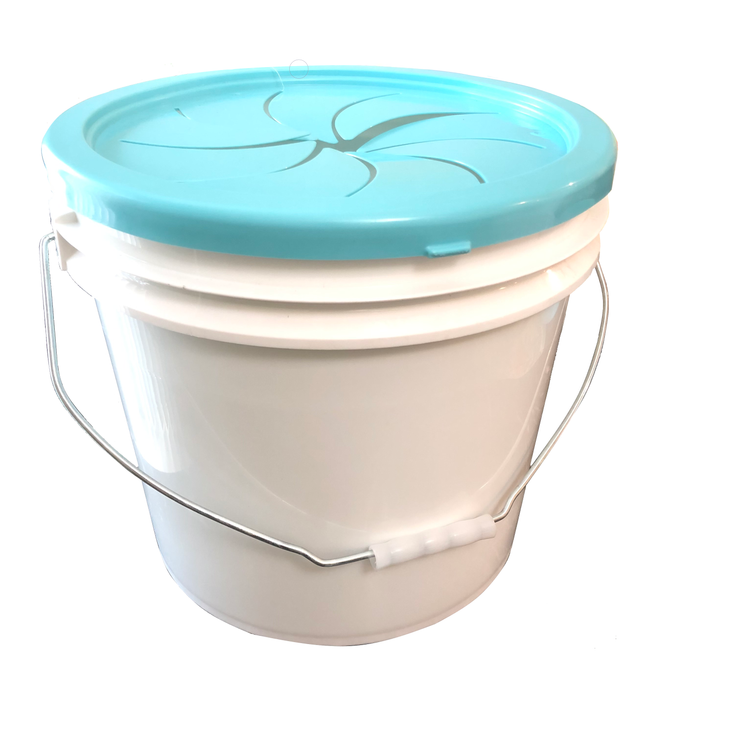 Trash Can - 3.5 Gallon White Bucket with Easy Access Lid ( No cover )
