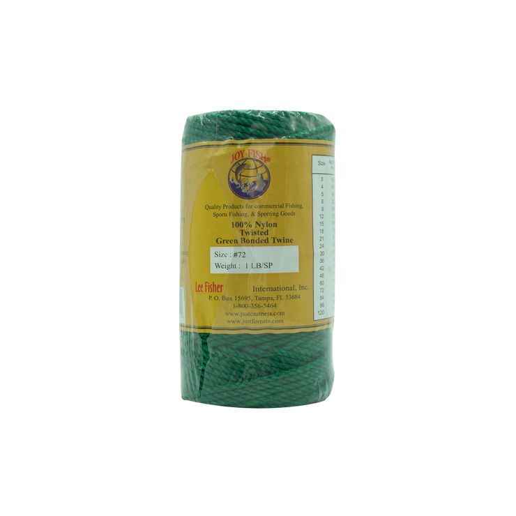Joy Fish Green and Bonded Twisted Nylon Twine - Lee Fisher Sports