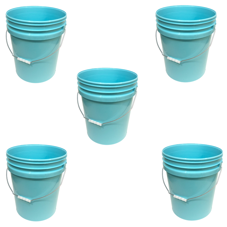 Bucket - Metal Handle without Lid, Aqua