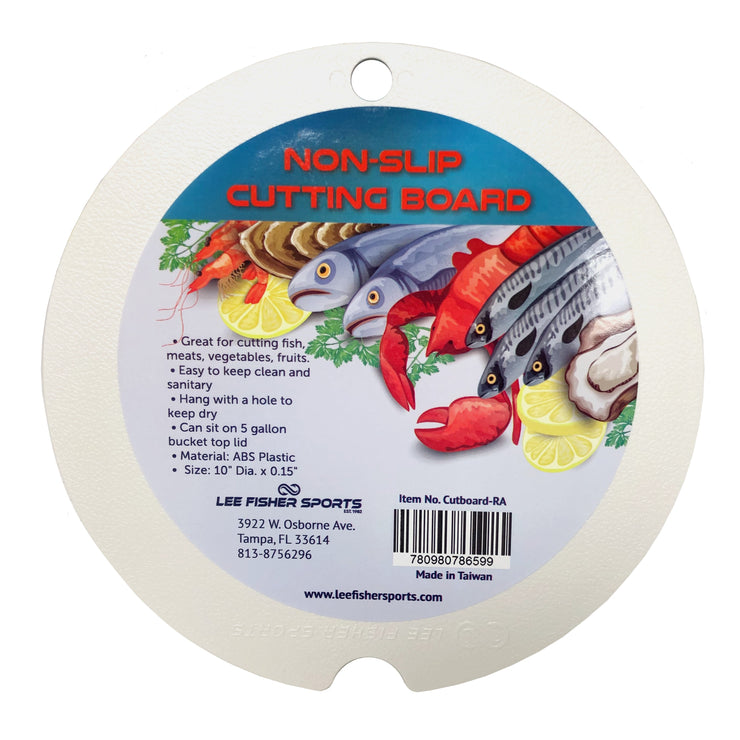 Lee Fisher Sports Non-Slip Round Cutting Board