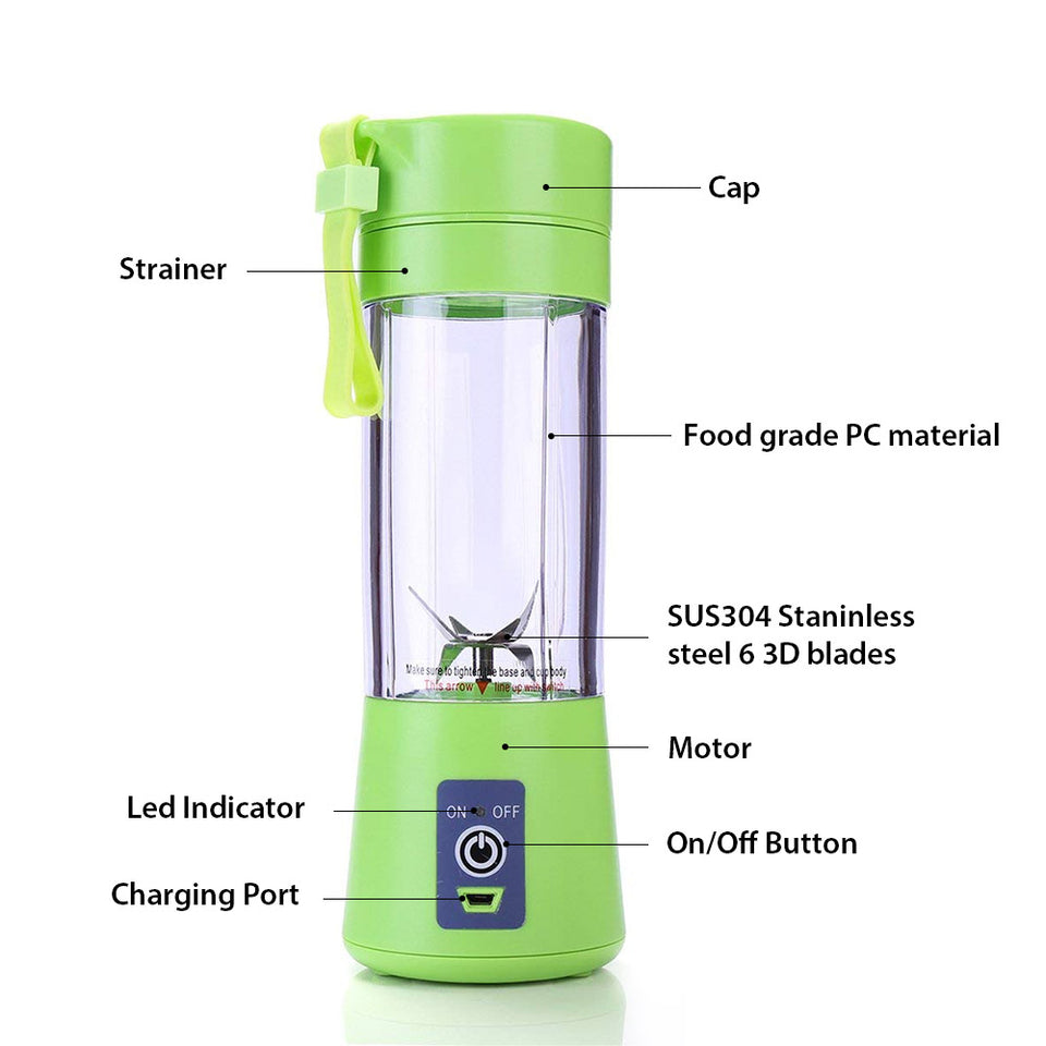change-nutrition-and-supplements - 6 Blade Portable Shake Mixer -
