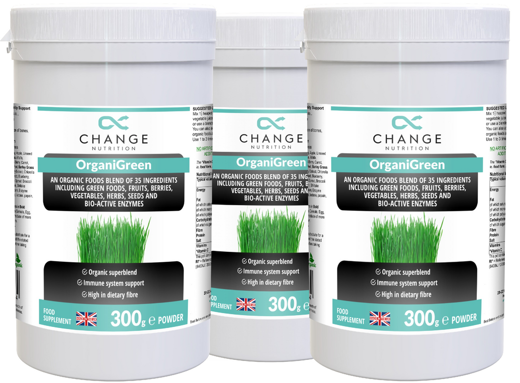 change-nutrition-and-supplements - OrganiGreen Triple OFFER with FREE Shaker -