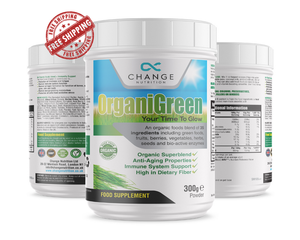 OrganiGreen Boost Your Immune System and improve your GLOW - Triple OFFER with FREE Shaker and FREE Shipping