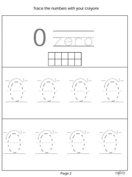 No Prep Kindergarten Math Unit 1
