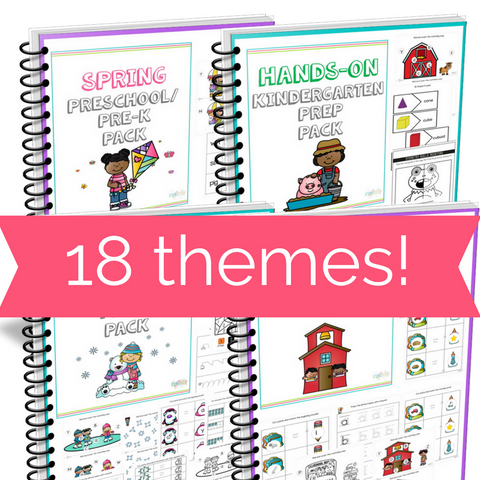18 Themed Pre-K/ K  Printable Worksheets