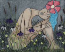"Load image into Gallery viewer, ""Blue Haired Hester"" 24 x 30  Decedent of Hester Pynne"