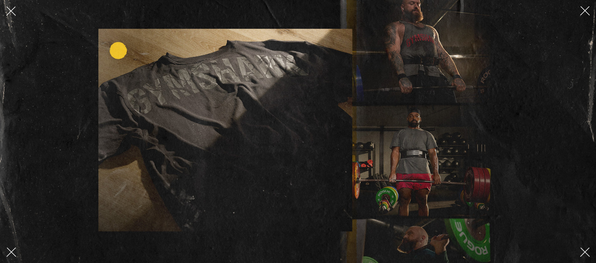 Mens Power Collection being showcased in a dark gym setting.